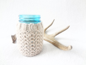 mason jar cozy from wormewoole.com