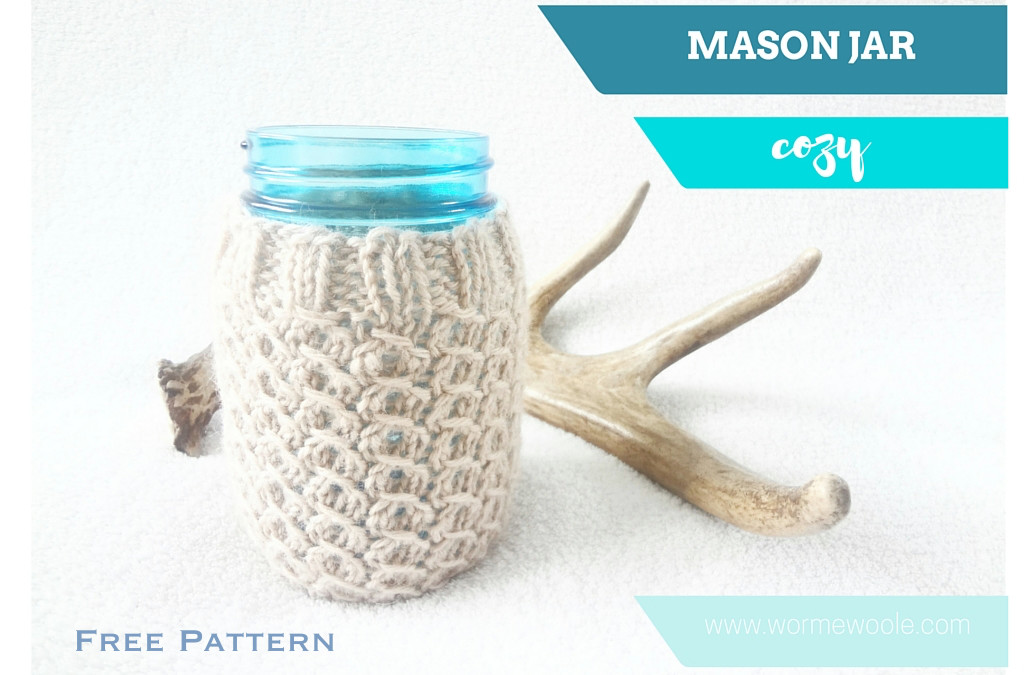{Mason Jar Cozy} Free Knitting Pattern