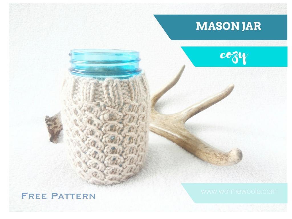 {Mason Jar Cozy} Free Knitting Pattern