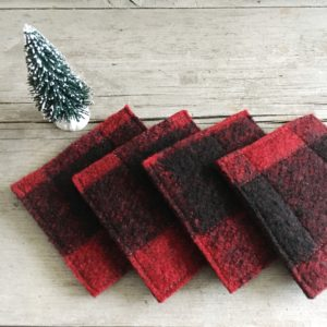 upcycled wool coasters from www.wormewoole.com
