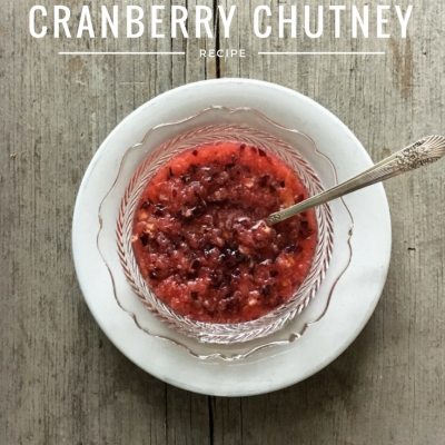 {Grandma's Cranberry Chutney} + the Secret Ingredient Grandma Didn't Use